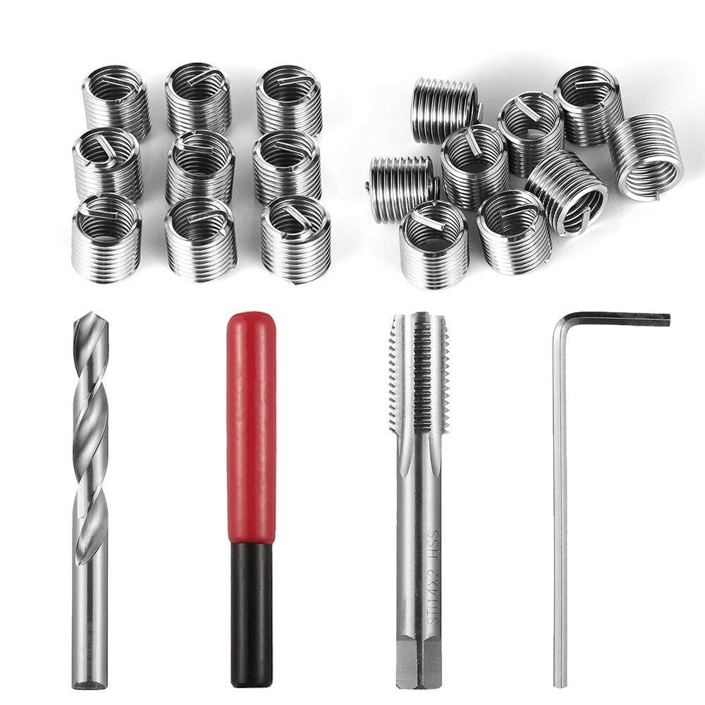 30Pcs Metric Thread Repair Insert Kit M3x0.5 Drill Wrench Threaded Insert Tools
