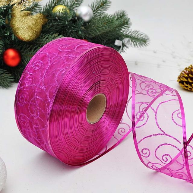 Christmas Decorations 2m Beautiful Lace Ribbon Xmas Kid Toys Gift Ornament Handmade Diy Christmas Tree Decoration Mr0131