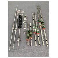 HGR 6 компл. HGR20 400/700/1000 мм квадратных линейной направляющей + HGH20CA + ballscrew ЮФУ 1605 + BK12/BF12 + муфта для ЧПУ части