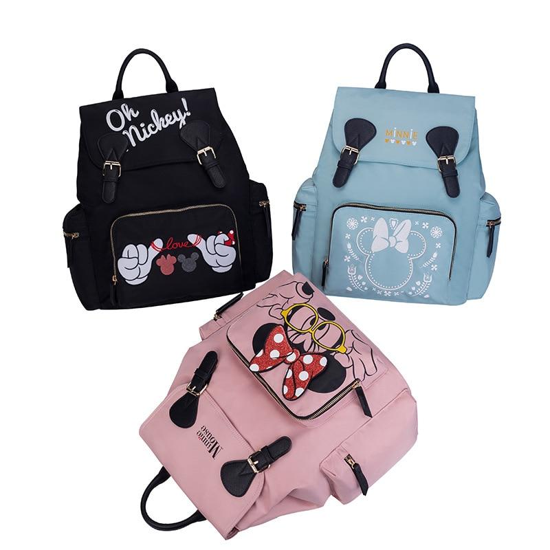 Disney Mummy diaper bags Backpacks stroller hooks Mommy Cartoon Insulation backpack Nappy Bag for baby born
