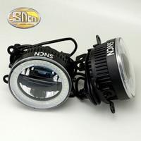 SNCN Safety Driving LED Angel Eyes Daytime Running Light FogLight Fog Lamp For Mitsubishi Outlander 2006