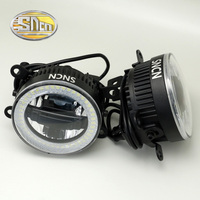 SNCN Safety Driving LED Angel Eyes Daytime Running Light FogLight Fog Lamp For Mitsubishi Outlander 2006