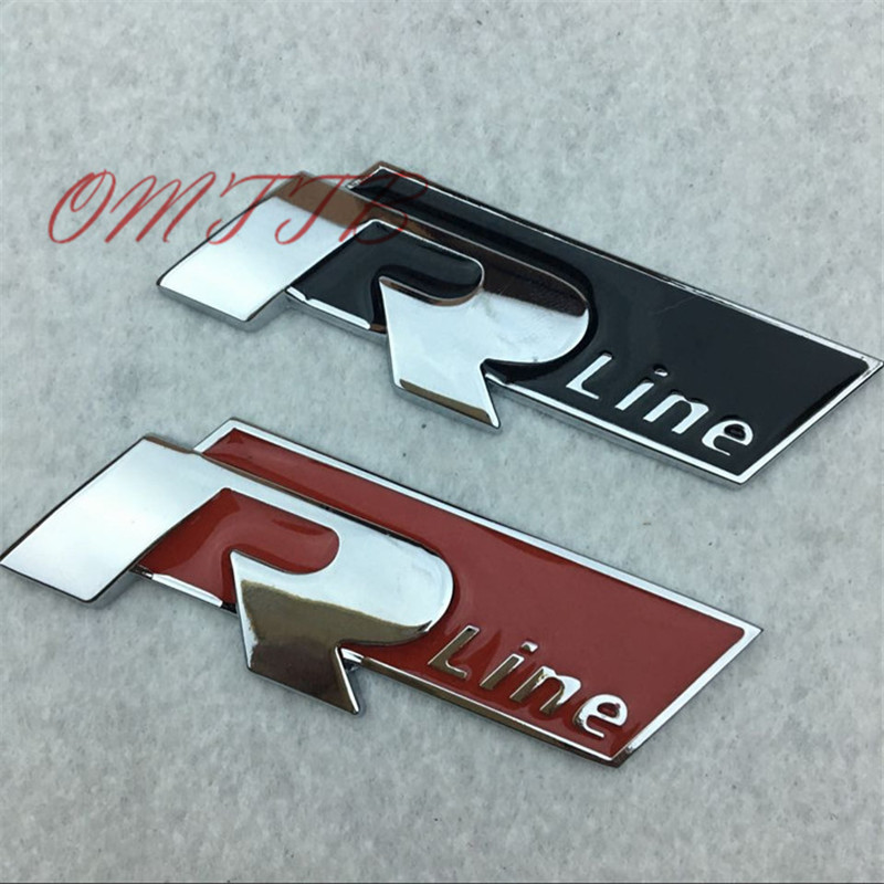 1шт 3D металлический линия и удобные Р эмблема наклейки для VW Фольксваген Гольф 5 6 7 МК6 МК7 Пассат В5 В6 В7 тигуан Поло стайлинга автомобилей