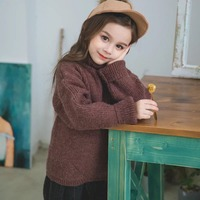 Baby Girls Knitted Sweaters Winter Children Warm Clothes Little Girls Christmas Pullover Top Kid Thick Needle Turtleneck Sweater