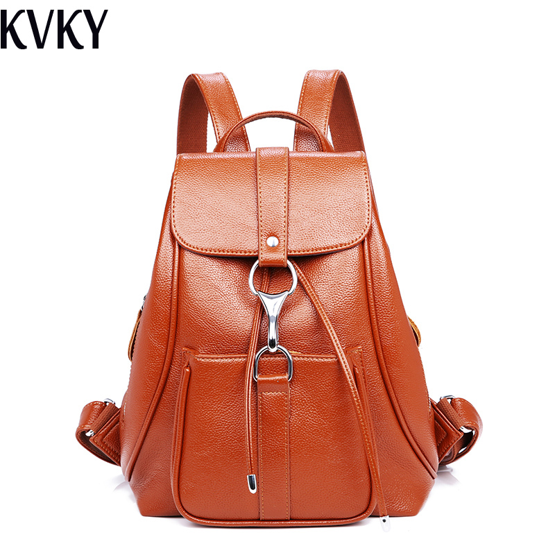 2018 Fashion High Quality Women Backpack Leather Backpacks for Teenage Girls Female School Shoulder Bag Rucksack Bolsa mochila women bts backpack high quality youth leather backpacks for teens girls female school shoulder bag mochila rucksack