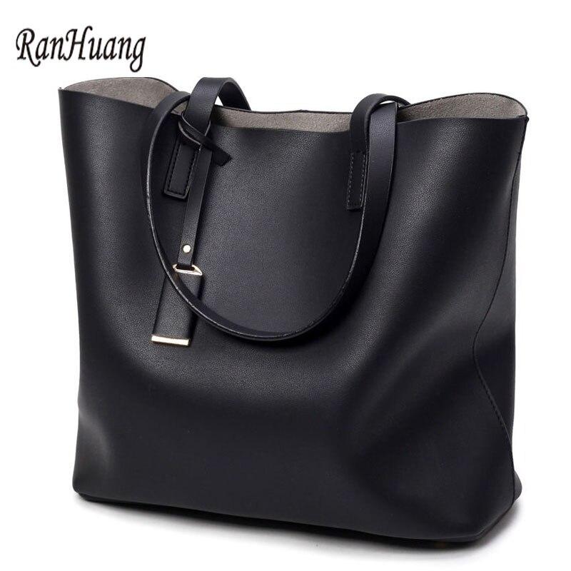 RanHuang Moda para mujer Bolsos con asa superior Suave bolsa de cuero - Bolsos