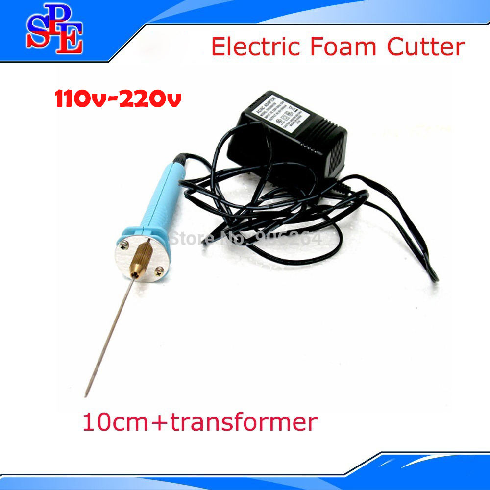 Free Ship and Hot Sell 110v Electric knife hot cutter 10cm Hot Knife Styrofoam Cutter Pen Electronic Voltage Transformer Adaptor craft hot knife styrofoam cutter 1pc 10cm pen cuts foam kt board wax cutting machine electronic voltage transformer adaptor