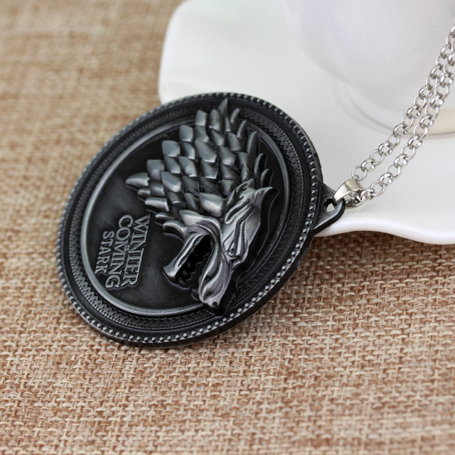 Game Of Thrones – House Of Stark Wolf Alloy Pendant Necklace