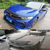 High quality Car body kit ABS Upainted front rear bumper Side skirts for Honda Civic 10TH 16 17
