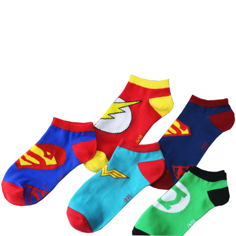 Superman Short Socks Women Men Ankle Socks The Flash Wonder Woman Cosplay Hallloween Christmas Socks
