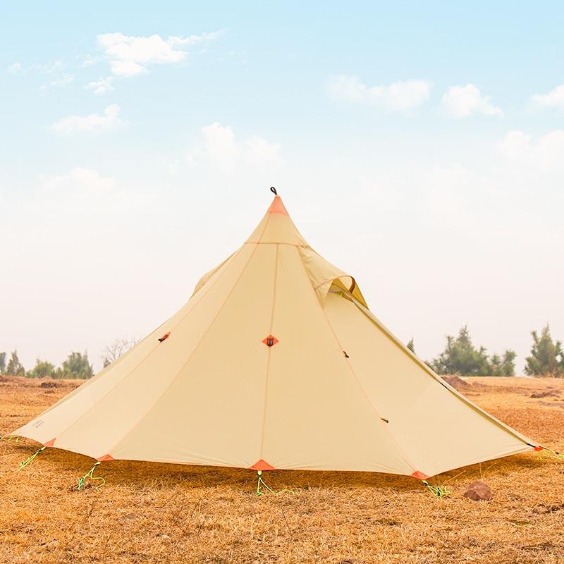 2 persona Oudoor Ultralight Tenda Da Campeggio 3 Stagioni Professionale 20D Silnylon Senza Stelo Tenda