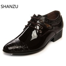 Luxury Brand Classic Man Pointed Toe Dress Shoes Mens Patent Leather Black Wedding Shoes Oxford Formal Shoes luxury brand classic man pointed toe dress shoes mens patent leather black wedding shoes oxford formal shoes big size fashion