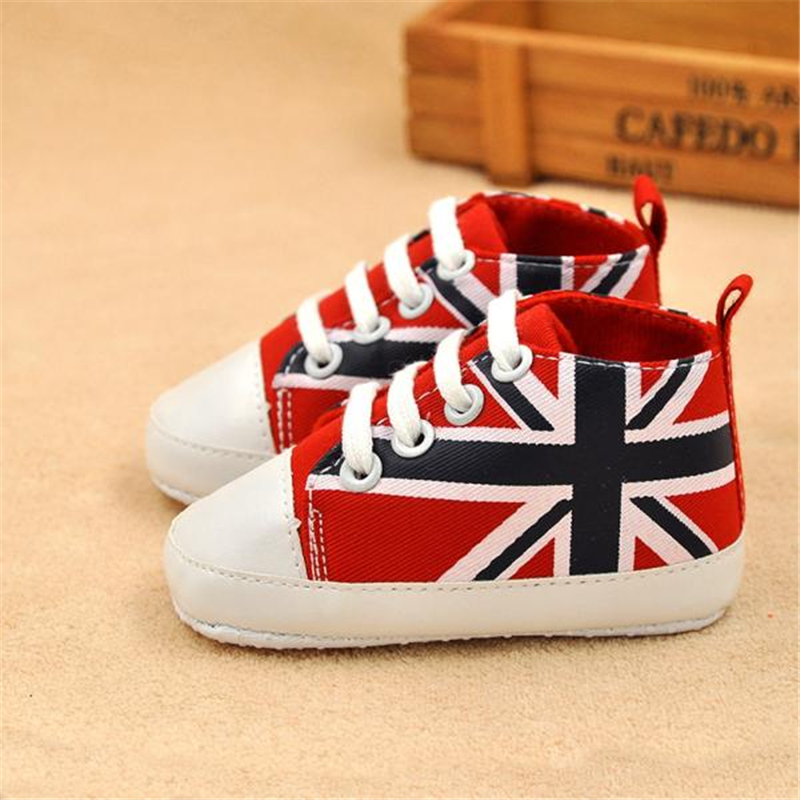 LONSANT First Walker Newborn Boy Girl Printing Crib Soft Sole Anti-slip Canvas Shoes Baby Boy Shoes Dropshipping Wholesale ...