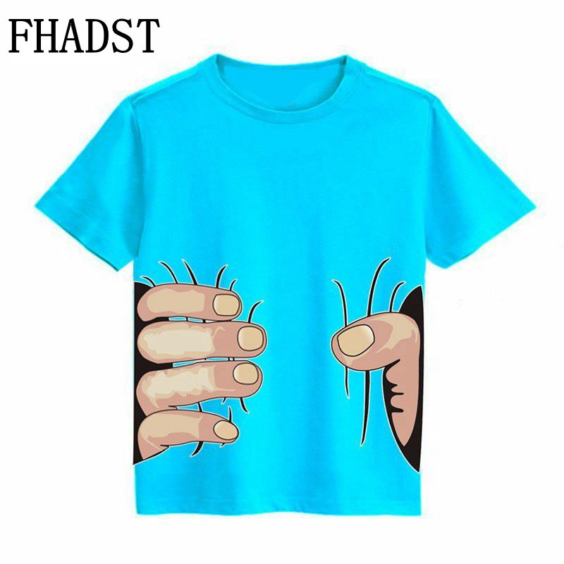 2017 Summer Boys T Shirts 3D Style hort Cotton Kids 2-8 Year Children Clothing Tee Outwear Child's Clothes Cool Fashion Arrival