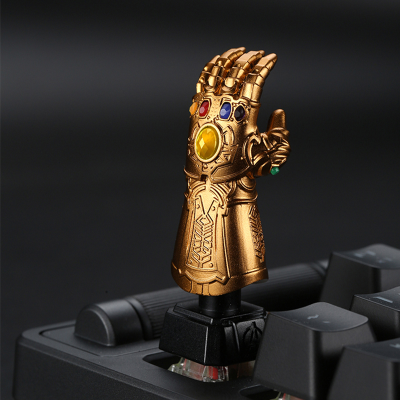 HFSECURITY Customized DIY Metal Keycaps MX Axis Thanos Hand Raw Stone Aluminum Keycaps For Cherry MX