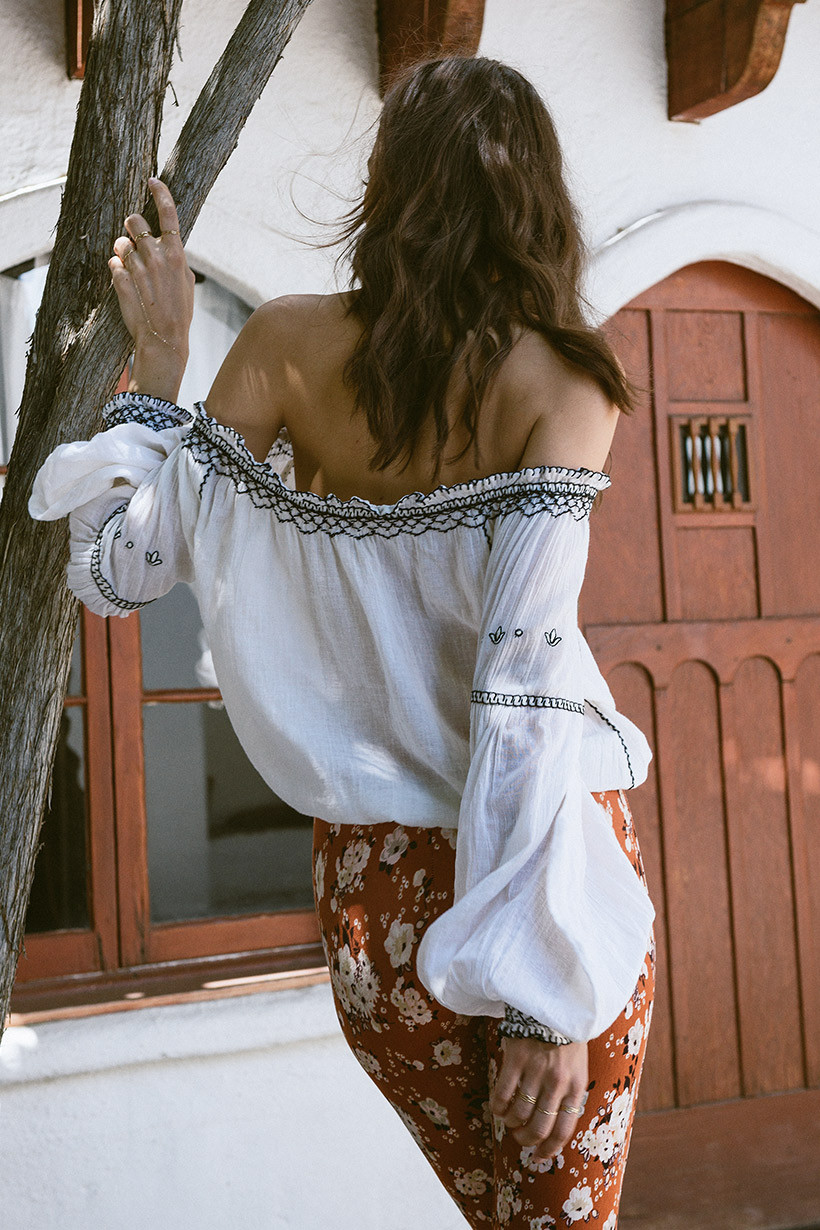 Canwedance nouveau vacances broderie dentelle poupée style chemises femmes boho blouses slash cou lanterne manches mignon t-shirts haut décontracté