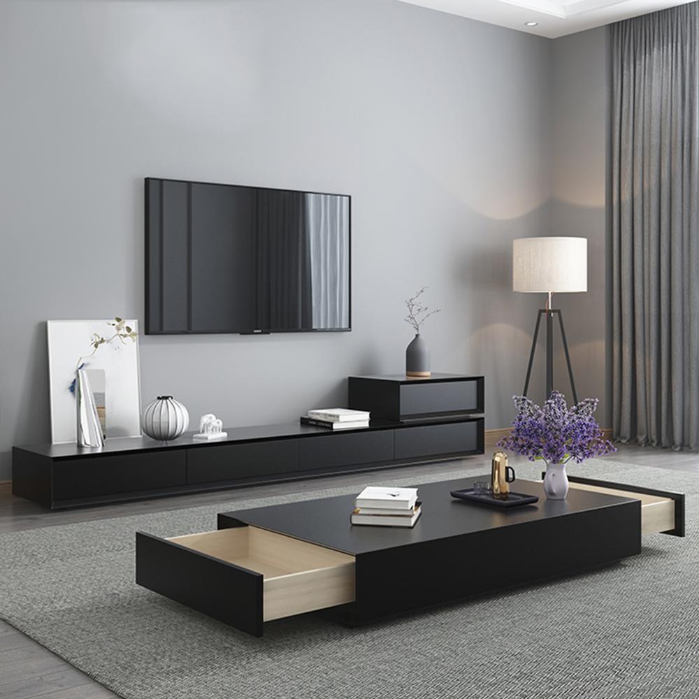 meuble tv pour salon moderne et table basse meuble de maison avec moniteur led