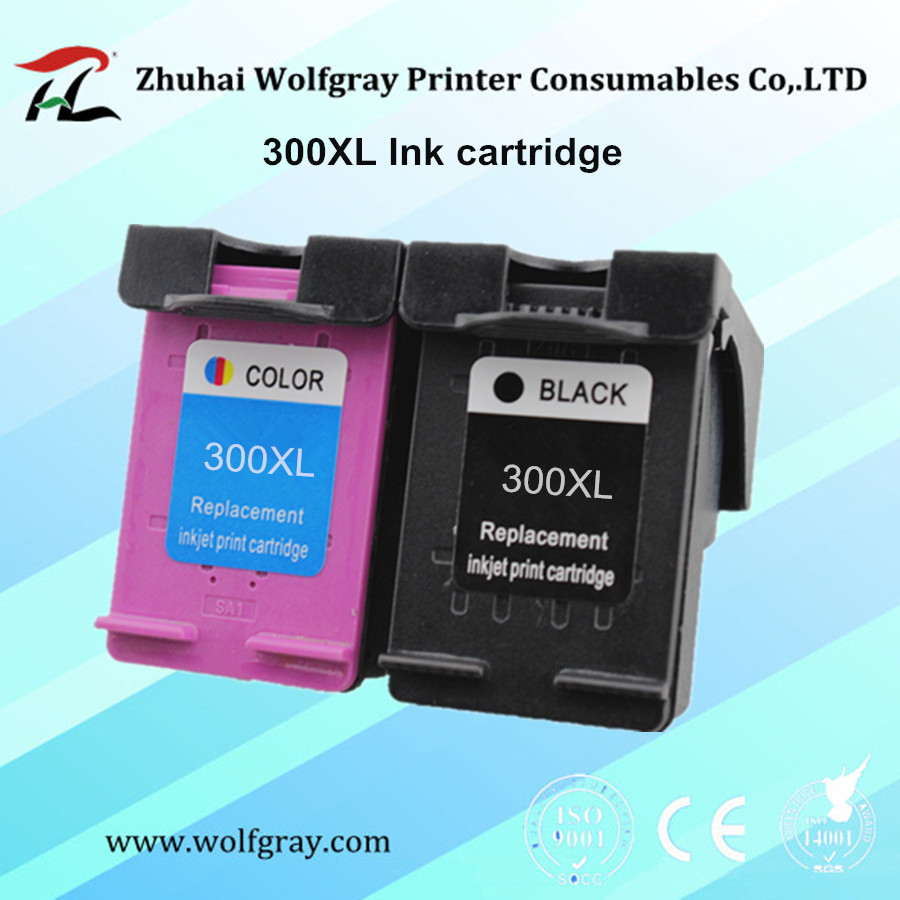 2PCS ink cartridge 300 300XL for HP Deskjet D1660 D2560 D2660 D5560 F2420 F2480 F2492 F4210