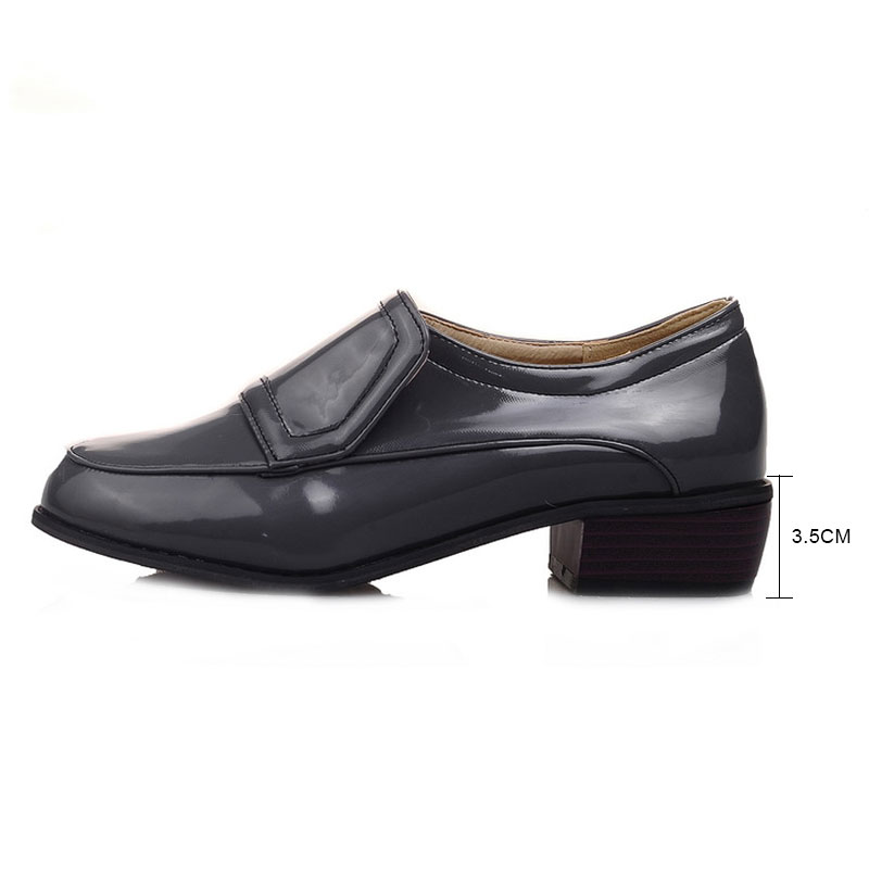98b8e22962c27 US $19.07 47% OFF|Fanyuan British Style Oxford Shoes Women Vintage Wood  Heel Shoes Woman Loafers Casual Slip On Ladies Flat Shoes Plus Size 34  48-in ...