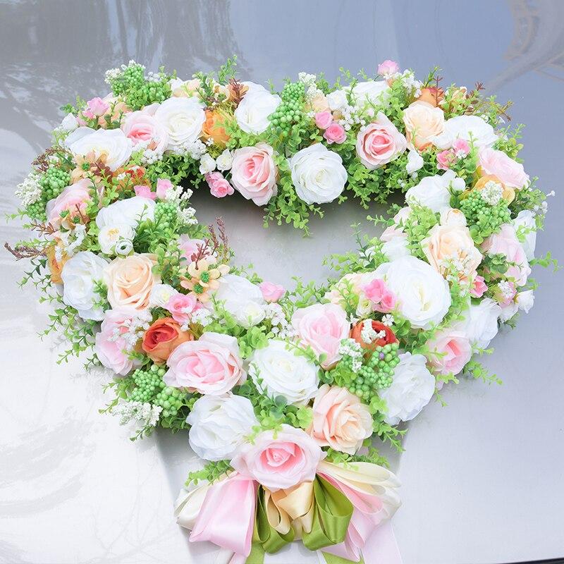 Flower Decoration Wedding: JLY Wedding Married Car Rose Flower Head Flower Decoration
