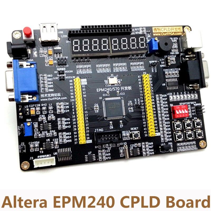 Carte multifonction Altera EPM240 CPLD carte de développement du récepteur d'interface moteur pas à pas AD/DA + alimentation USB Blaster + 5 V