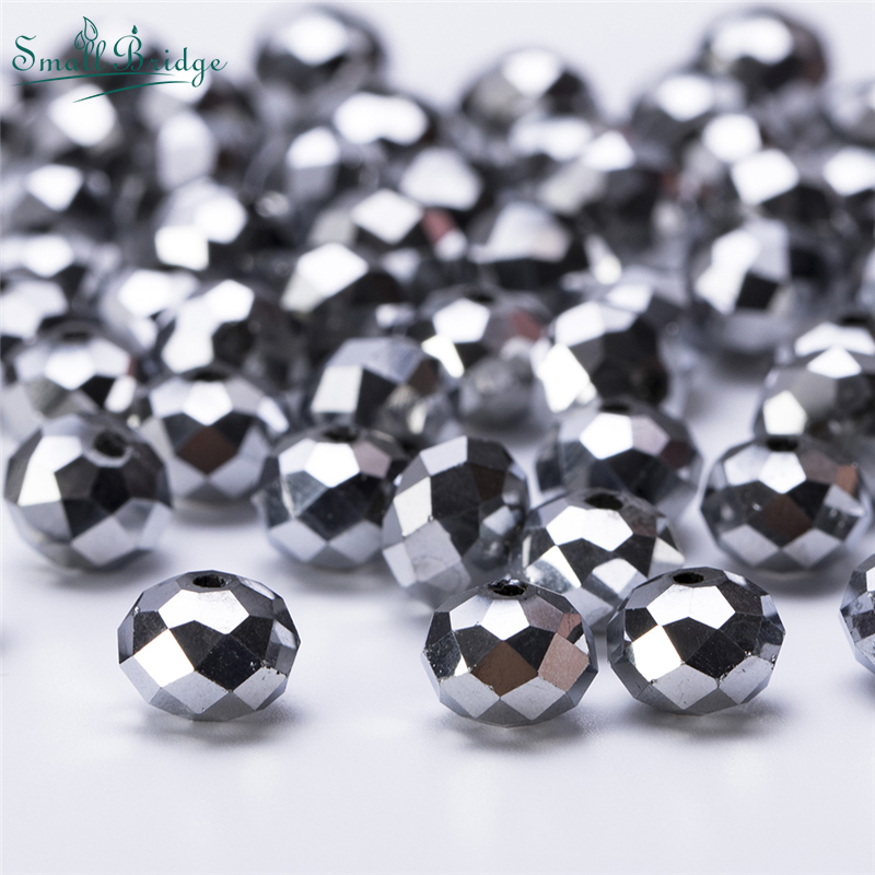 Crystal 40Pcs Loose Bicone Beads 8mm fit DIY Bracelet Necklace