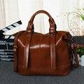 Diseñador de moda de lujo mujeres de los bolsos de cuero cera de Aceite de bolso de las mujeres bolso de marca de la vendimia de las señoras crossbody bags