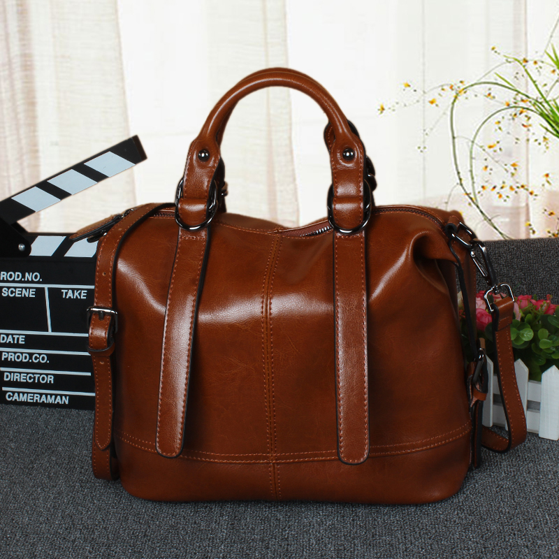 ФОТО Fashion designer luxury handbags women bags Oil wax leather women's shoulder bag handbag brand vintage ladies crossbody bags
