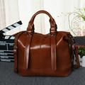 Fashion designer luxury handbags women bags Oil wax leather women's shoulder bag handbag brand vintage ladies crossbody bags