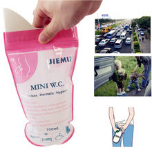 2019 NEW 1 pcs Outdoor Disposable Urinal Toilet Bag Camping Male Female Kids Adults Portable Emergency Pee Bag Loading(China)