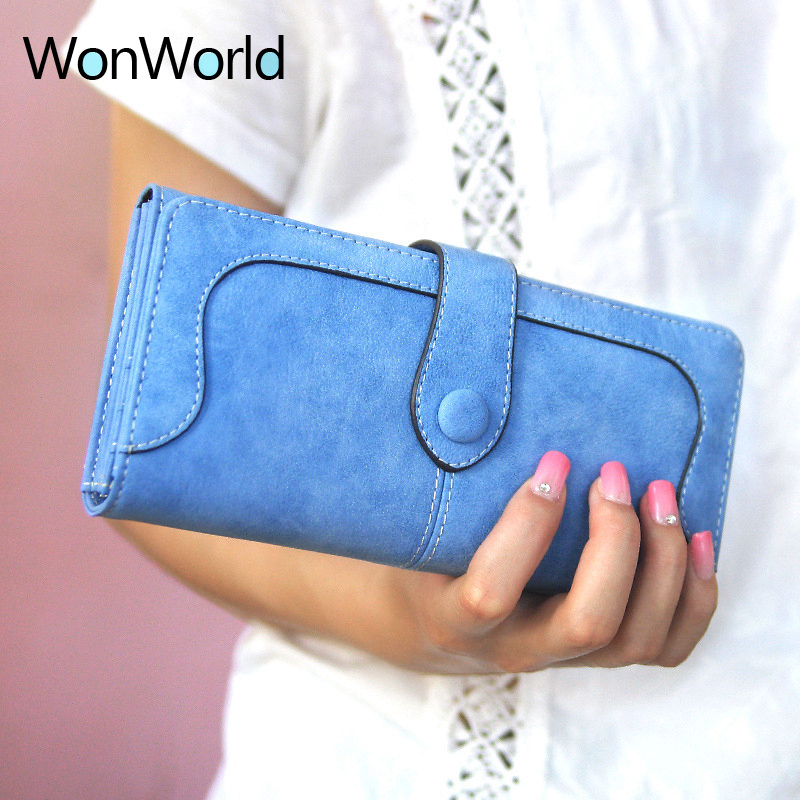 2018 New Fashion Women Wallets high quality Leather Zipper coin Wallet Women's Long Design Purse Three Clutch Travel card wallet 2018 new women wallets oil wax genuine leather high quality long design day clutch cowhide wallet fashion female card coin purse page 5