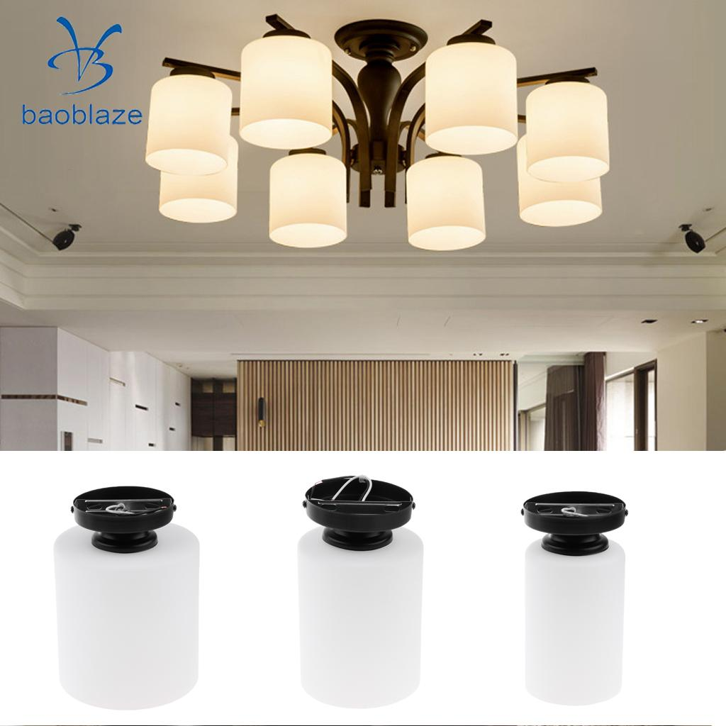 Cylindrical Ceiling Light Shade Cover Glass Lampshade for Corridor Cafe Bar