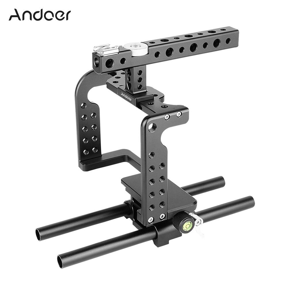 Video Camera Cage Stabilizer Aluminum Alloy For GH5/GH4 DSLR To Mount Mic Monitor LED Light Film Making Accessories