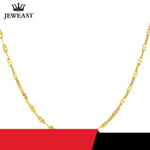 Image 2 - JYZB collier en or pur 24K, véritable AU 999, Simple, à la mode, classique, bijoux fins, offre spéciale, nouveau 2020