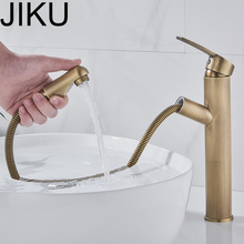 JIKU Classic Bathroom Basin Sink Faucet Brass Single Handle Vessel Hole Mixer Tap Counter