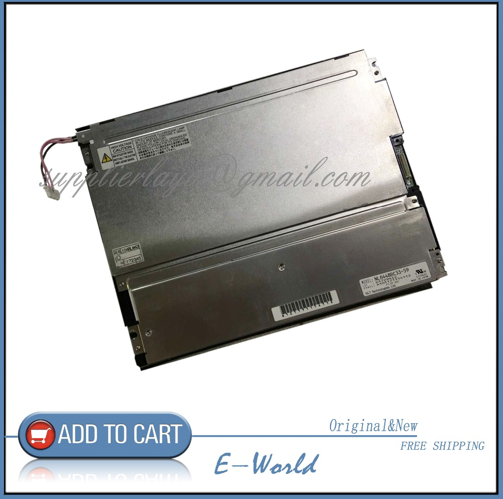 NL6448BC33-59 Brand New Original 10.4 inch TFT 640*480 LCD Display Panel Screen for NEC Free ShippingNL6448BC33-59 Brand New Original 10.4 inch TFT 640*480 LCD Display Panel Screen for NEC Free Shipping