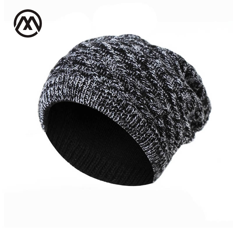 Hip Hop Beanie Knit Hats Men Winter Cap Sided Available knitted Cap For Men Women Skullies Stocking Hat Bonnet Slouch Winter Hat [jamont] love skullies women bandanas hip hop slouch beanie hats soft stretch beanies q3353