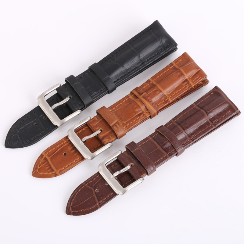 18mm 20mm 22mm Watchbands Retro Brown Men Soft Watch Band Strap Metal Pin Buckle Accessories Relojes Hombre 2018 купить в Москве 2019