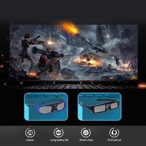 Image 2 - Màn Trập Chủ Động 3D Kính Cho Trẻ Em Người Lớn Đồng Hồ Lên Xuống Trái Phải 3D Video Phim Thông Minh Bộ Phim Kính trẻ Em 3D Kính Máy Chiếu DLP