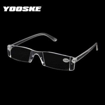 9e5bf4b9d9 YOOSKE sin montura gafas de lectura de los hombres y las mujeres lupa gafas  de presbicia padres regalo