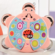 Baby Toys Pat Hand Tambourine Children Rattle Early Education Puzzle Musical Instrument Tool Dropshiping Color Random
