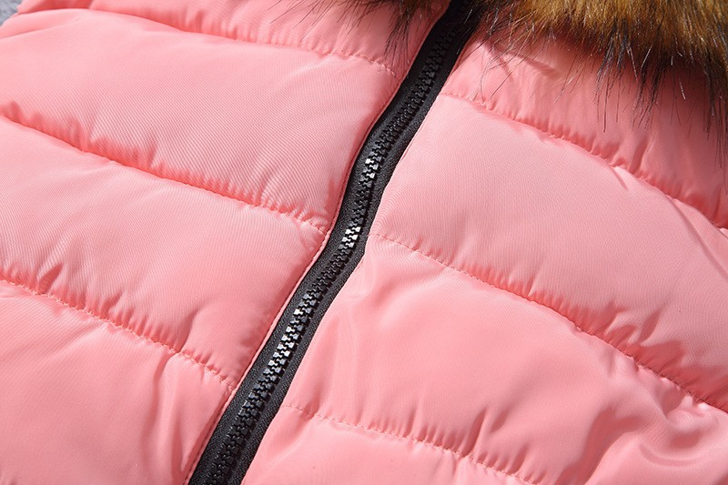 down vest with fur 0W0125 pink-3