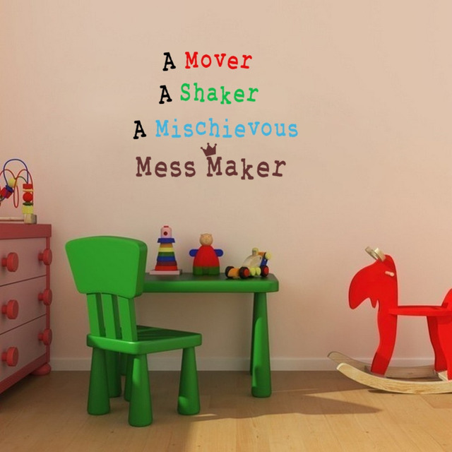 Creative Kid Rooms: Creative Kids Room Quotes Wall Stickers Mess Maker Vinyl