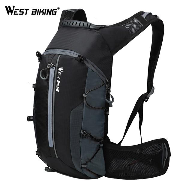 מערב רכיבה על אופניים עמיד למים רכיבה תרמיל לנשימה 10L Ultralight אופני שקית מים טיפוס רכיבה על אופניים הידרציה תרמיל
