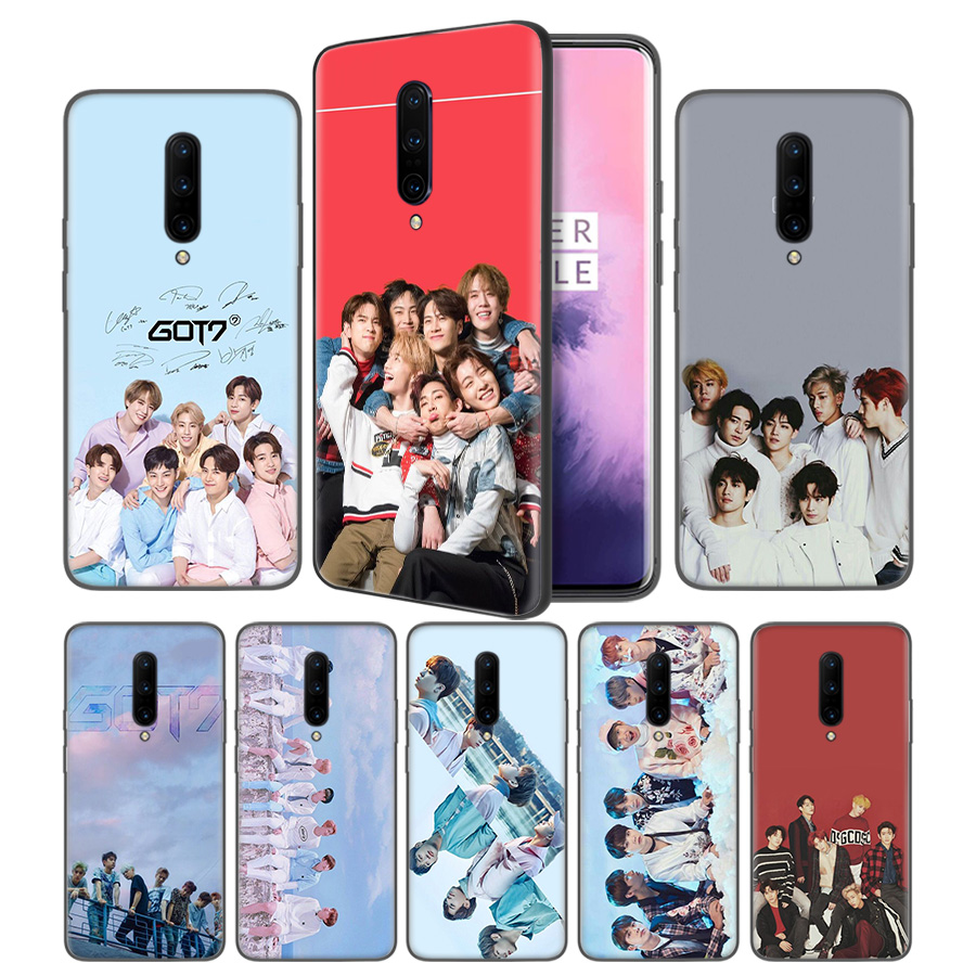 GOT7 kpop Soft Black Silicone Case Cover for font b OnePlus b font 6 6T font