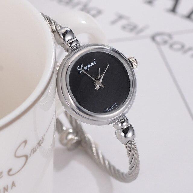 Lvpai Women Bracelet Watch Luxury Top Brand Stainless Steel Gold Silver Ladies Wristwatch Female Clock Quartz Watch Gift Hours