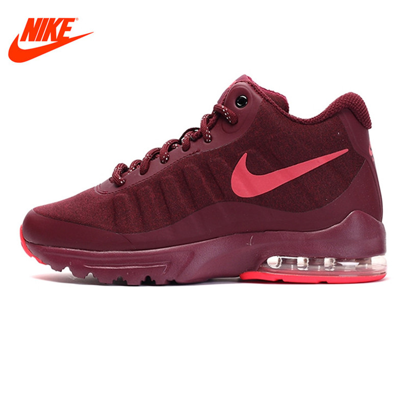 NIKE Authentic Winter AIR MAX INVIGOR MID Women's Running Shoes Sneakers Outdoor Walking Sneakers Comfortable кроссовки nike кроссовки nike air max invigor mid 858654 005