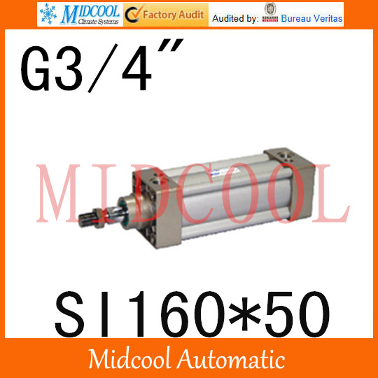 SI series ISO6431Standard cylinder SI160*50 port 3/4 bore 160mm Adjustable cylinder si series iso6431standard cylinder si160 200 port 3 4 bore 160mm adjustable cylinder