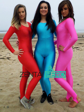 Free Shipping DHL Sexy 3 Colors Available Lycra Spandex Leotard Sexy Zentai Catsuit LZ112105 Red Pink Blue Plus Size S-XXXL