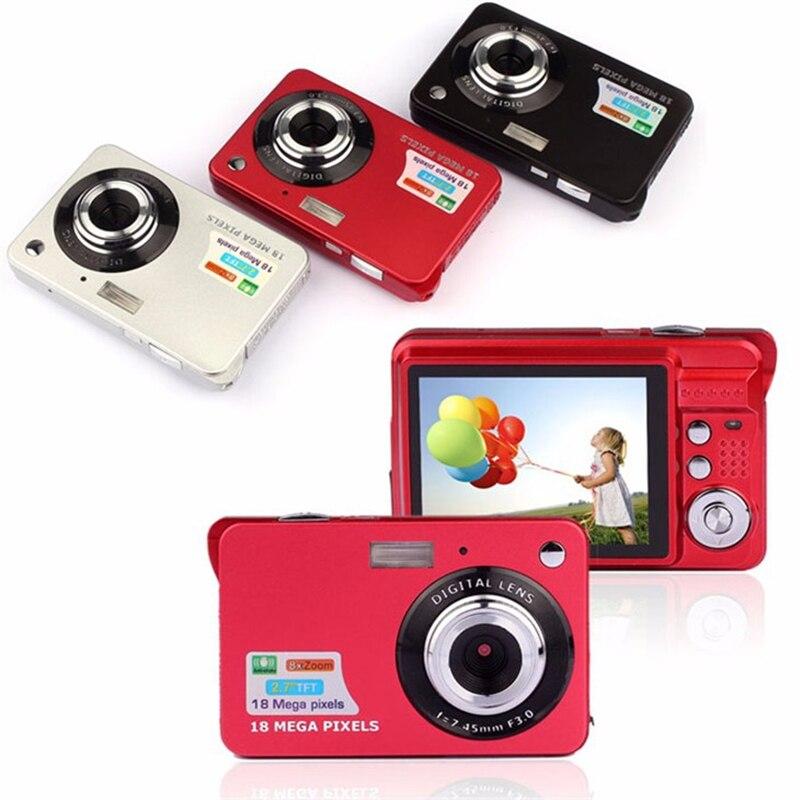 Горячие Продаем Мини HD Цифровые Камеры 1080 P 18MP 8-кратным Зумом Anti-shake Видеокамера 2.7 COMS Видео перекодировка 3 Цветов ...